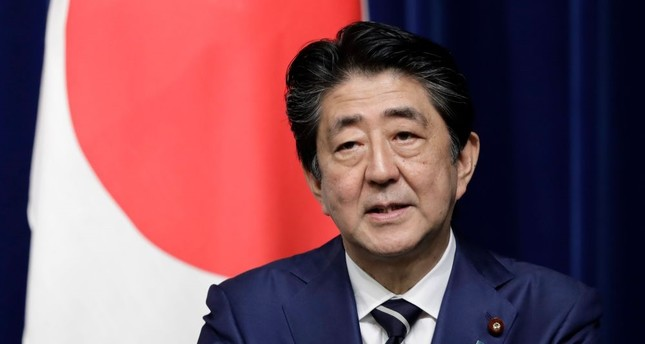 Japan's Prime Minister Shinzo Abe speaks during a news conference.