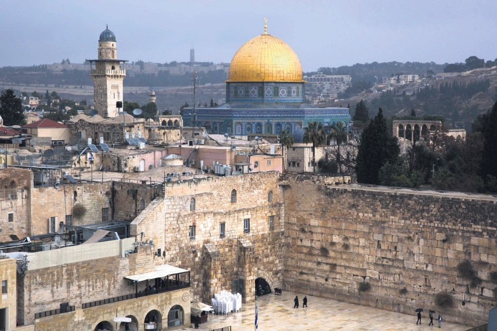A view of the Western Wall and the Dome of the Rock, some of the holiest sites for Jews and Muslims seen in Jerusalem's Old City, Dec. 6.