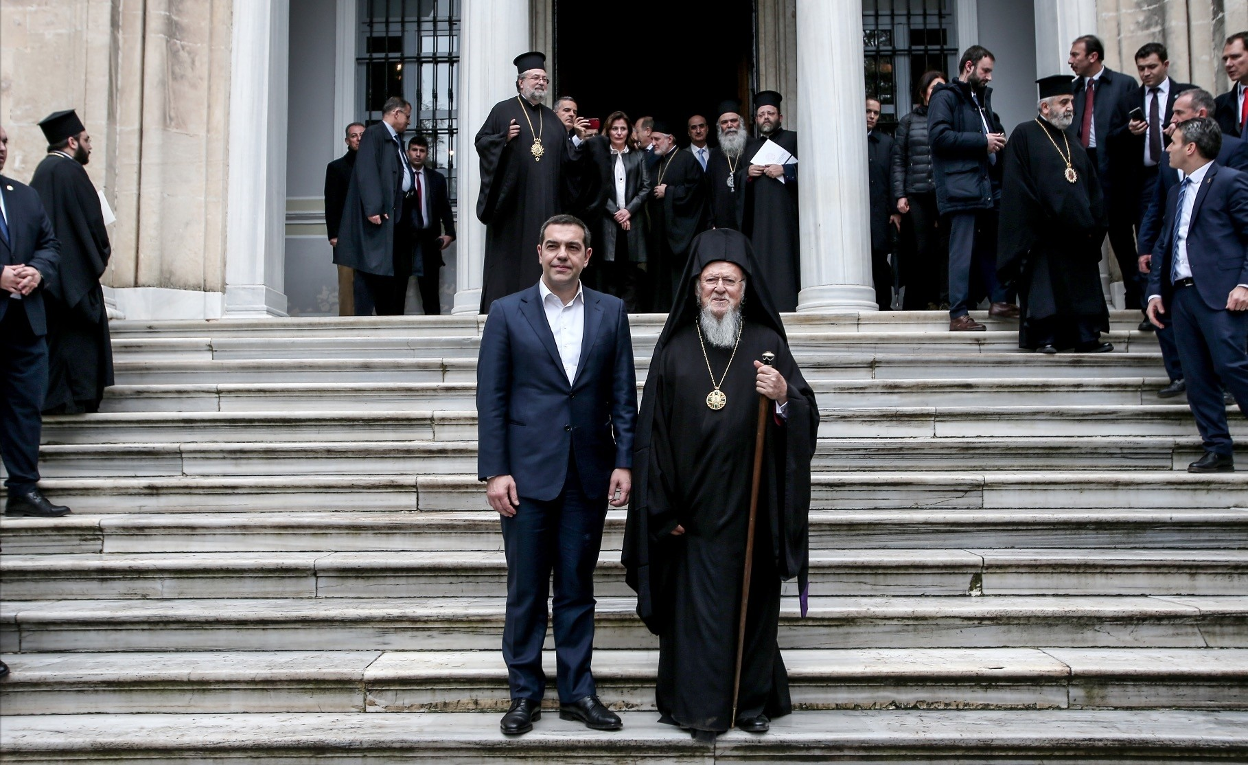 During his trip to Turkey, Tsipras became the first Greek prime minister to visit the Halki seminary in Heybeliada on the Princesu2019 Islands, Feb. 6, 2019.