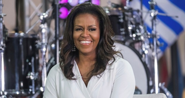 In this Oct. 11, 2018, file photo, Michelle Obama participates in the International Day of the Girl on NBC's Today show in New York. AP Photo