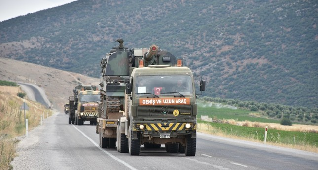 The Turkish military is deploying significant amounts of military hardware in Kilis, Turkey, across the border from Syria's Afrin region, where the PKK's Syrian wing has strong presence.