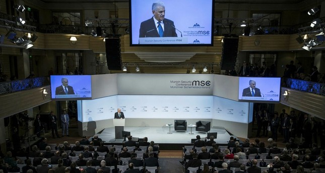 Prime Minister Yıldırım speaks at the Security Conference in Munich, Germany, Feb. 17.