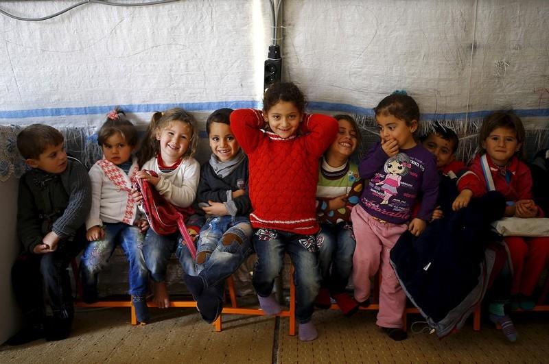 Syrian refugee children play in a kindergarten at Midyat refugee camp in Mardin, Turkey. (FILE Photo)