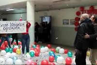 Turkish teacher gets showered with love by students after beating cancer