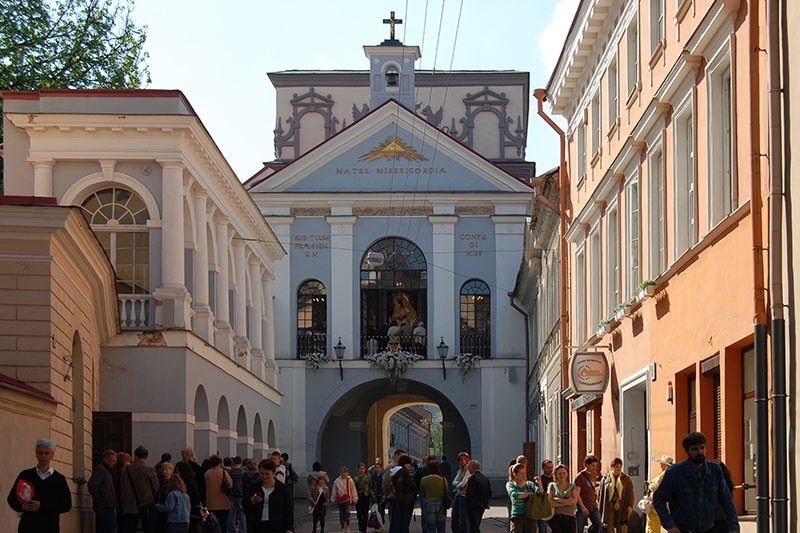 The Gate of Dawn in Vilnius, Lithuania. (Wikipedia Image)
