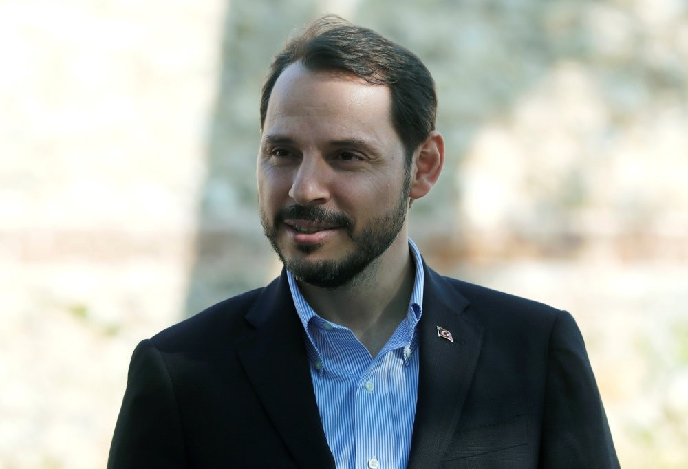 Treasury and Finance Minister Berat Albayrak is pictured before an interview with Reuters in Istanbul, Turkey, Sept. 2, 2018.