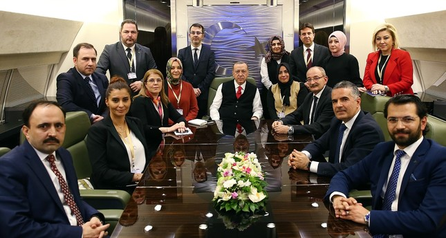 President Erdoğan spoke journalists accompanying him on the presidential plane on his return from Varna, Bulgaria.