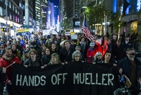 'Hands off Mueller': Hundreds demonstrate in Times Square to protect Russia probe
