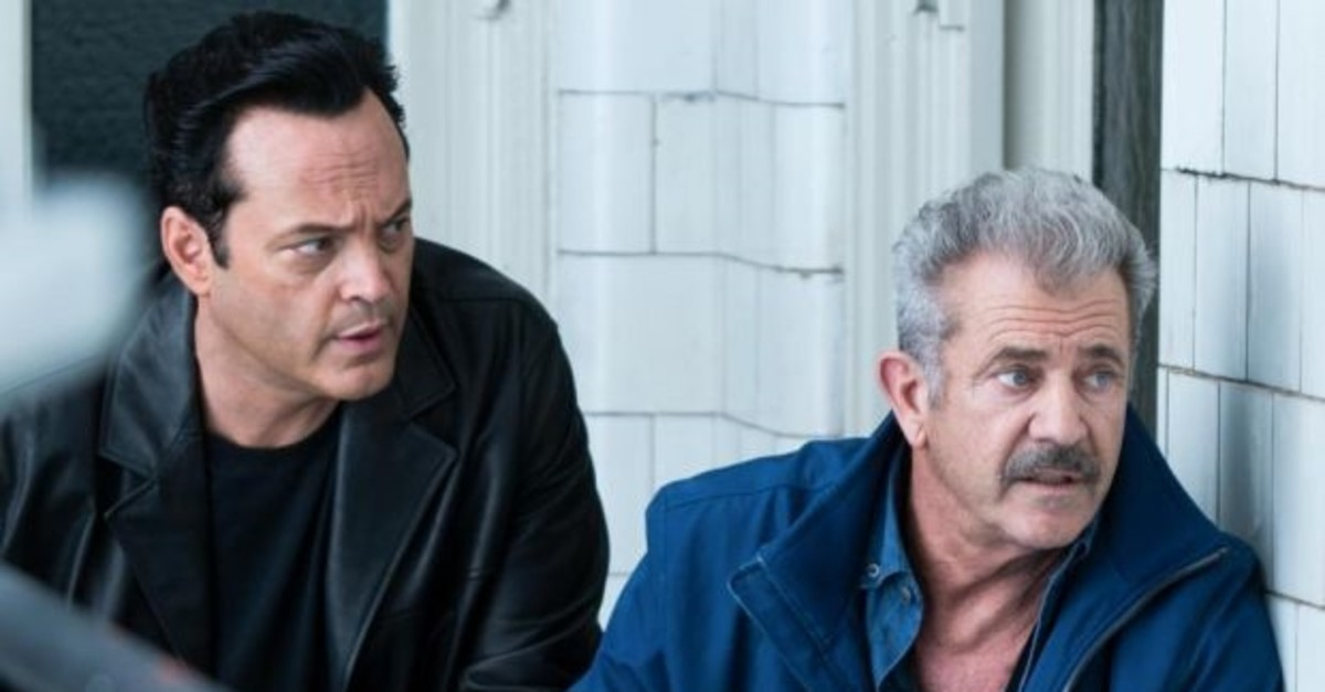 Vince Vaughn and Mel Gibson in ,Dragged Across Concrete.,