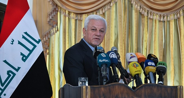 Iraqi ambassador to Iran Rajih al-Moussawi at a news conference in Tehran on Oct. 17, 2017 (AA Photo)