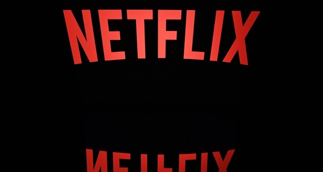 This file photo taken on April 19, 2018 shows the logo of the Netflix entertainment company, displayed on a tablet screen in Paris. (AFP Photo)