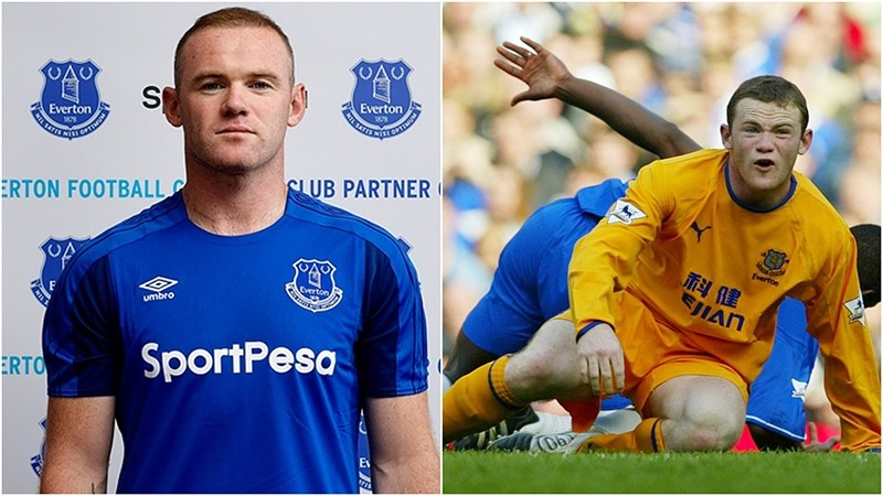 (L-2017) Rooney rejoins his first club Everton (R-2004). (IHA & AFP Photos)