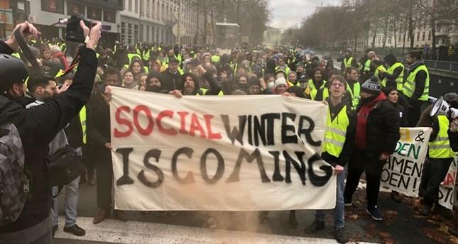 متظاهرو السترات الصفراء يتجهون نحو مقار الاتحاد الأوروبي ببروكسل