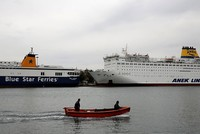 Strikes hit ferry services, media in Greece ahead of austerity vote
