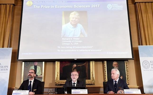 US economist Richard Thaler wins 2017 Nobel Economics Prize