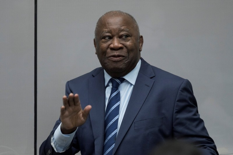 Former Ivory Coast President Laurent Gbagbo appears before the International Criminal Court in The Hague, Netherlands, Jan. 15, 2019 (Reuters Photo)