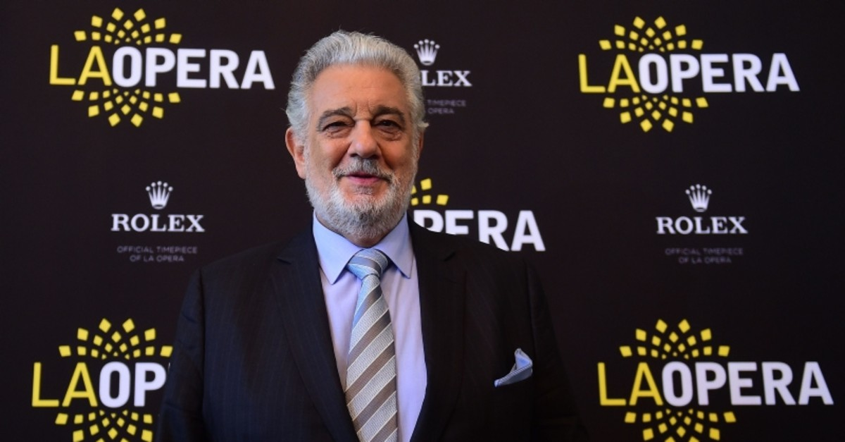 In this file photo taken on May 15, 2014 Opera star Placido Domingo poses during a Q & A session with the media in Los Angeles, California (AFP Photo)