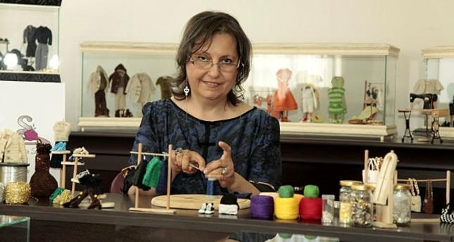 Sevda Çelik, a miniature fashion designer, created countess costumes for her last collection, Hayallerim Askıda Kalmasın - Zamana Yolculuk.