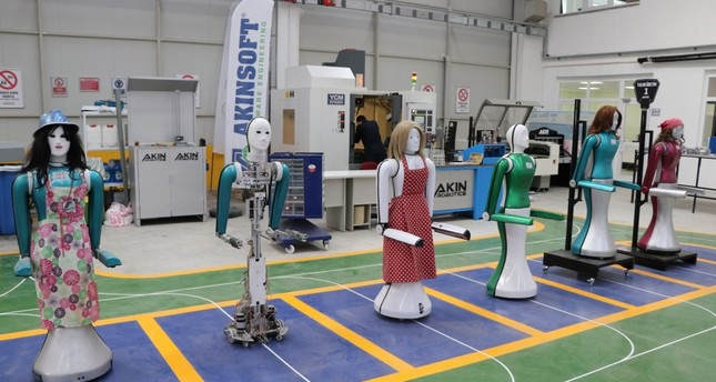 Robots built in the factory will be primarily used in service sector.