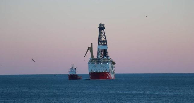 Turkish drilling vessel Yavuz drops anchor off the port of Taşuçu in the southern Mediterranean province of Mersin, Jan. 11, 2019. AA Photo