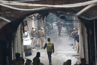 At least 43 dead in market fire in New Delhi, India