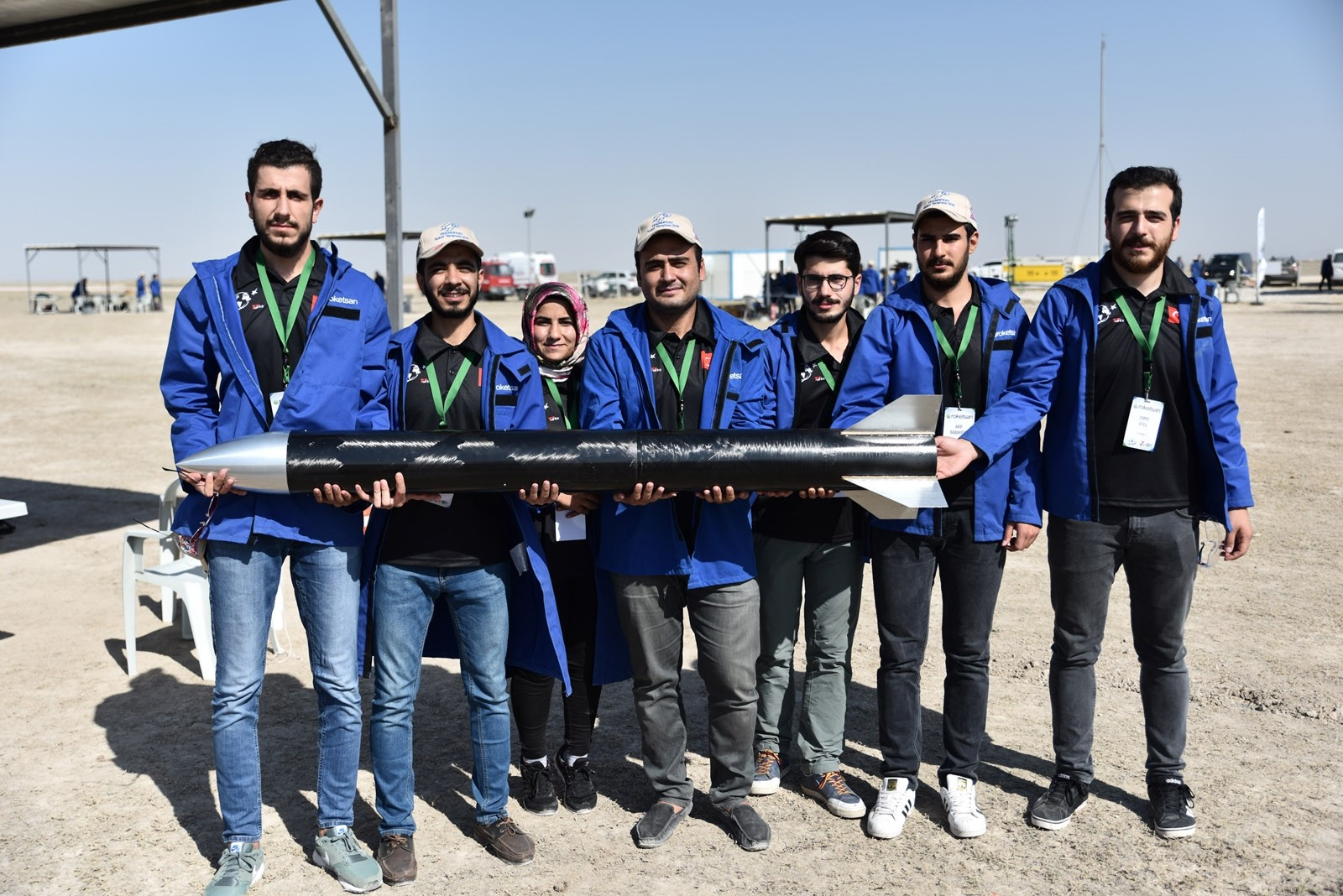 Students compete at rocket race in central Turkey's Aksaray as part of upcoming Teknofest