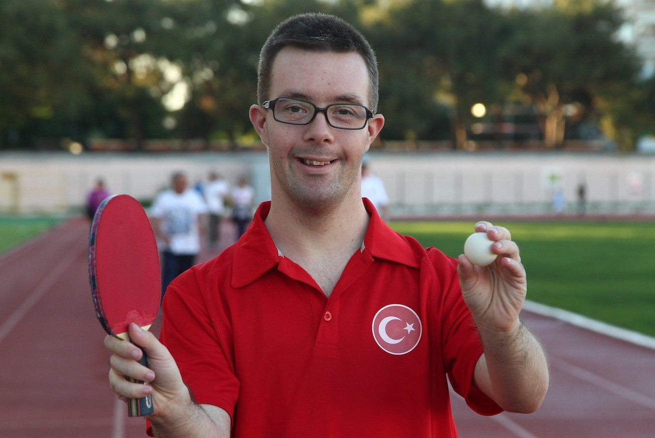 Erman u00c7etiner has so far won around 100 medals, including a third place finish at the world championship for Down syndrome players.