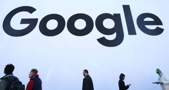 People walk past the Google pavilion at CES 2020 at the Las Vegas Convention Center on Jan. 8, 2020, in Las Vegas, Nevada. AFP Photo