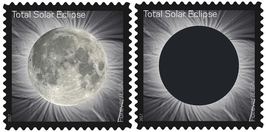 The U.S. Postal Service unveiled Tuesday, June 20, 2017, in Laramie, Wyo., the first-of-its-kind stamp, which commemorates the Aug. 21 eclipse, that changes when you touch it by transforming into an image of the Moon from the heat of a finger.