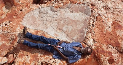 pScientists have found what could be the world's largest dinosaur footprint - measuring nearly 1.7 meters (5.6 ft) - on a remote part of Australia's northwestern coastline./p  pThe footprint from...