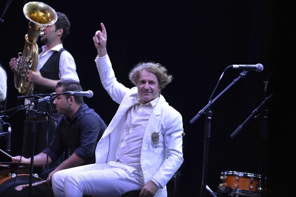 Goran Bregovic performing at Harbiye Open Air Theater in Istanbul.