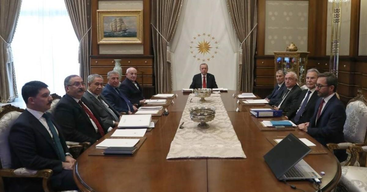 The high advisory board of the Turkish Presidency held a meeting under the chairmanship of President Recep Tayyip Erdou011fan in the capital Ankara, Nov. 5, 2019. (AA Photo)