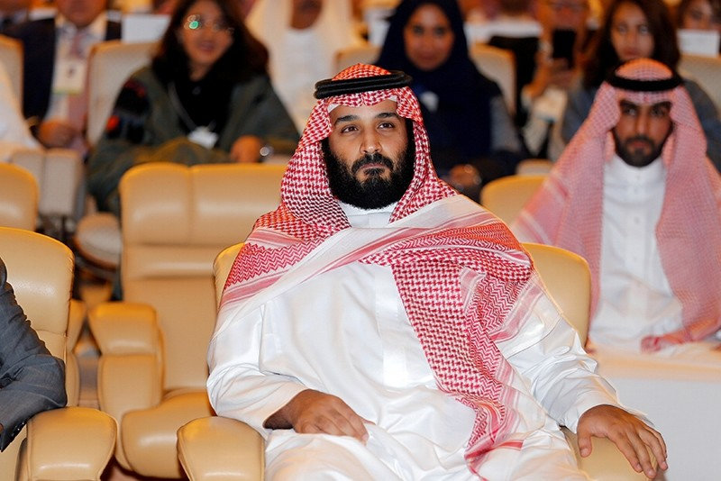 Saudi Crown Prince Mohammed bin Salman, attends the Future Investment Initiative conference in Riyadh, Saudi Arabia October 24, 2017 (Reuters Photo)