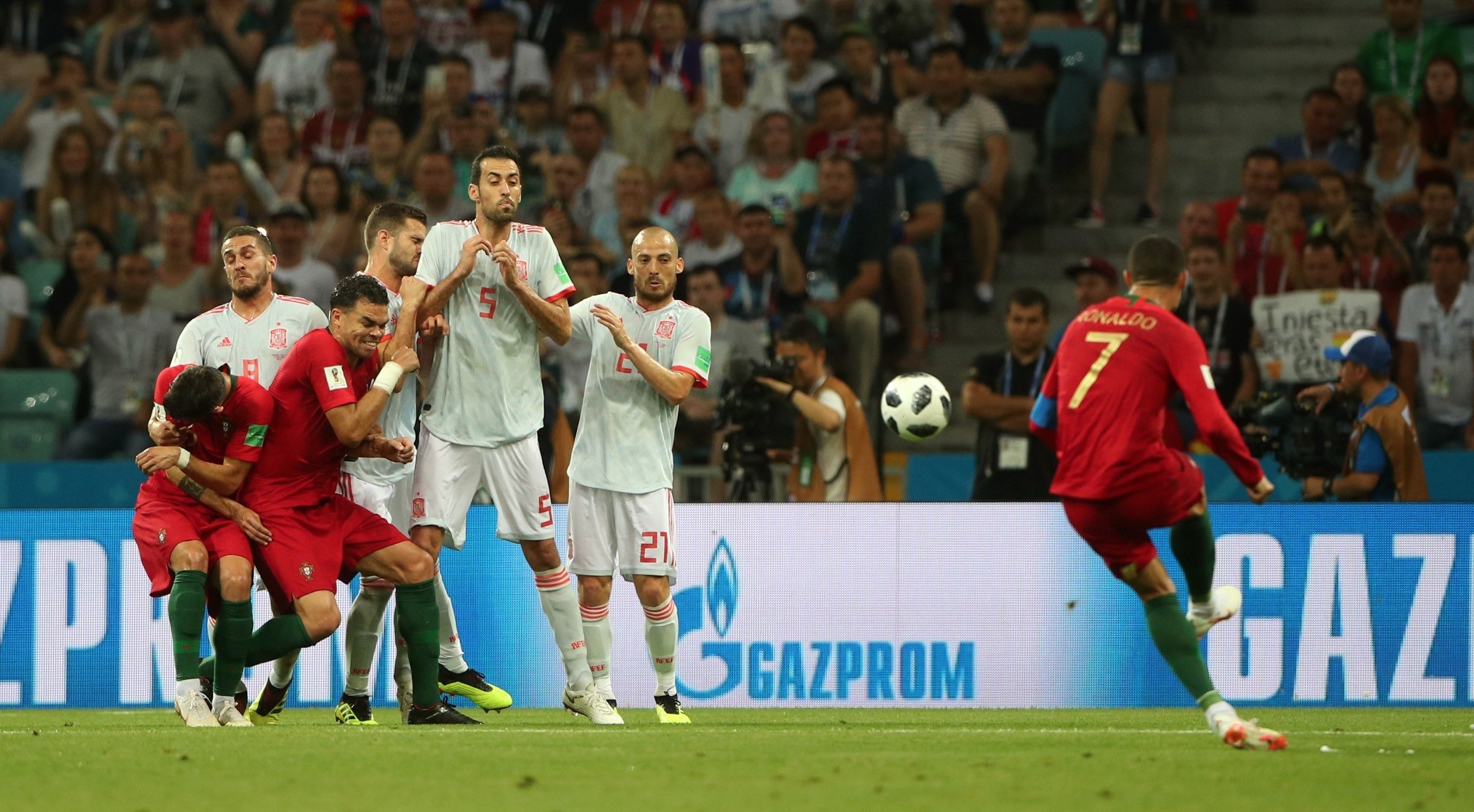 Portuguese star Ronaldo achieved his hat trick in the 3-3 draw with Spain, only with the help of a penalty and free-kick.