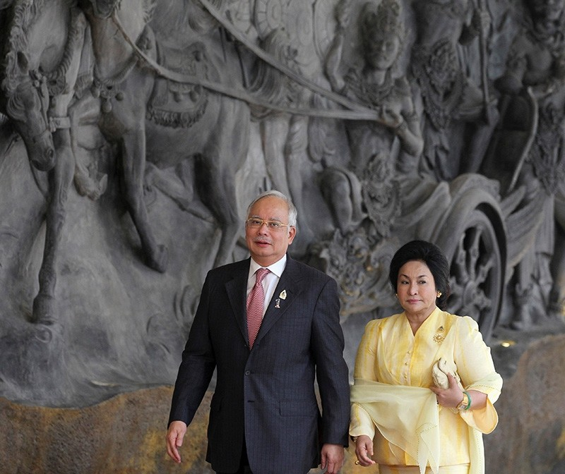 Malaysia's former Prime Minister Najib Razak and his wife Rosmah Mansor arrive at the Bali Nusa Dua Convention Center before the opening ceremony of the Association of South East Asian Nations Summit in Nusa Dua, Bali Nov. 17, 2011. (Reuters Photo)