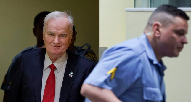 Ex-Bosnian Serb wartime general Ratko Mladic appears in court at the International Criminal Tribunal for the former Yugoslavia ICTY in The Hague, Nov. 22, 2017. REUTERS Photo