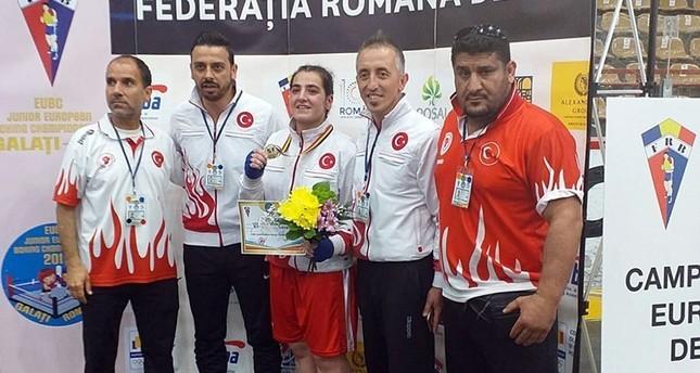 Female Turkish boxer wins European title