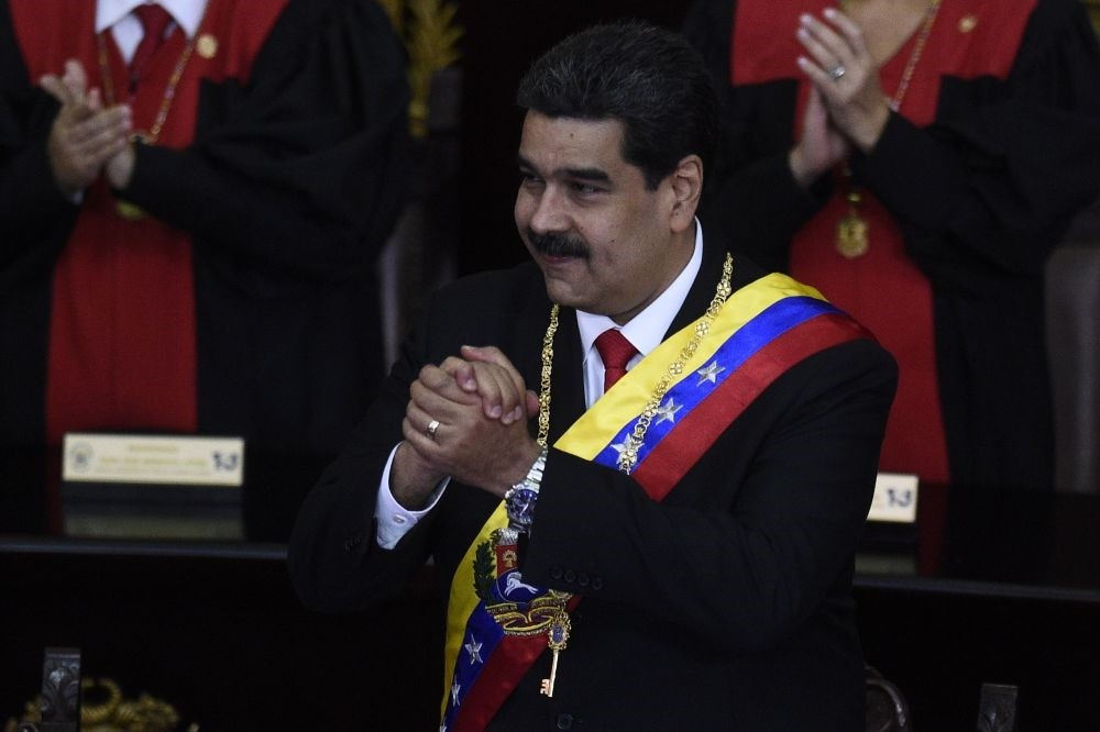 Venezuelan President Nicolas Maduro attends the opening ceremony of the judicial year at the Supreme Court of Justice, Caracas, Jan. 24, 2019.