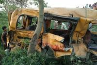 12 children killed in bus-train collision in India