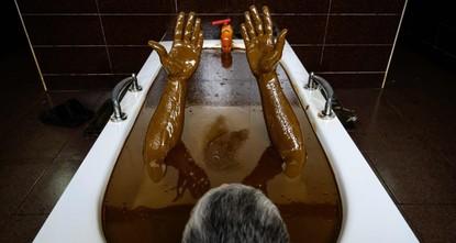 Azerbaijan's 'petroleum spa' offers treatment with crude oil baths