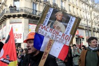 French unions warn Macron pension strikes will drag on for months
