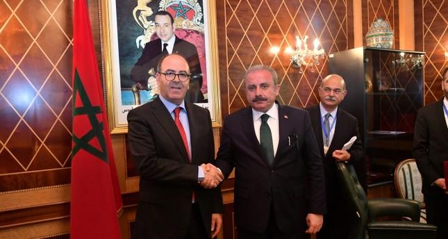 شنطوب مع رئيس مجلس المستشارين المغربي بمقر البرلمان في الرباط