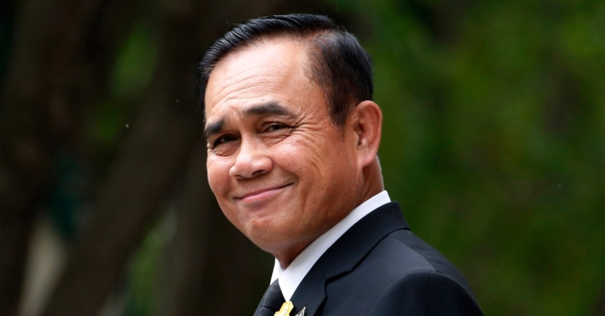 In this Thursday, June 6, 2019, file photo, Thailand's Prime Minister Prayuth Chan-ocha smiles and talks reporters before a meeting at the government house in Bangkok, Thailand. (AP Photo)