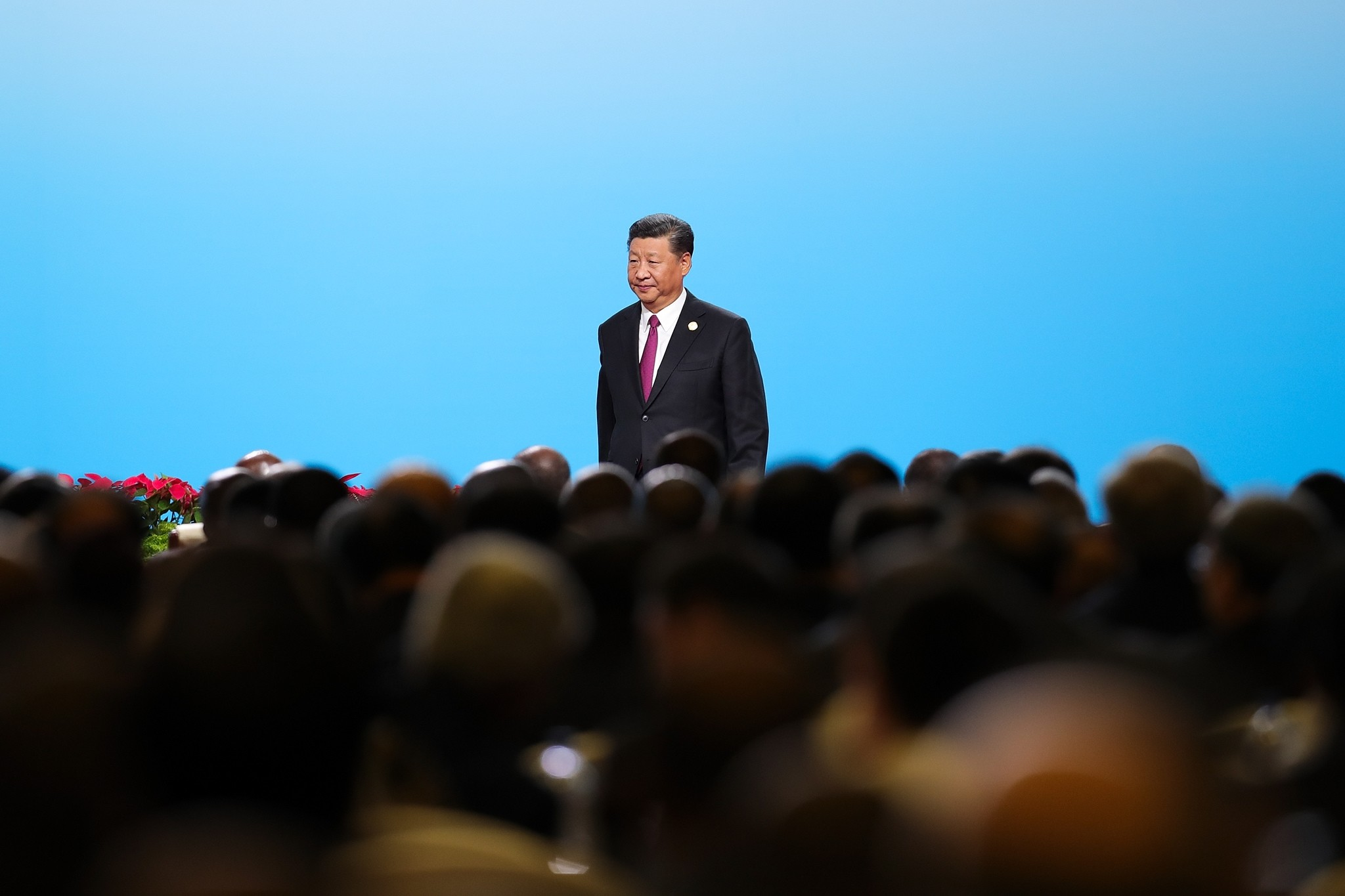 China's President Xi Jinping attends opening ceremony of dialogue between Chinese and African leaders and business representatives ahead of the 6th Forum of China-Africa Cooperation in Beijing on Sept. 3, 2018. (AFP Photo)
