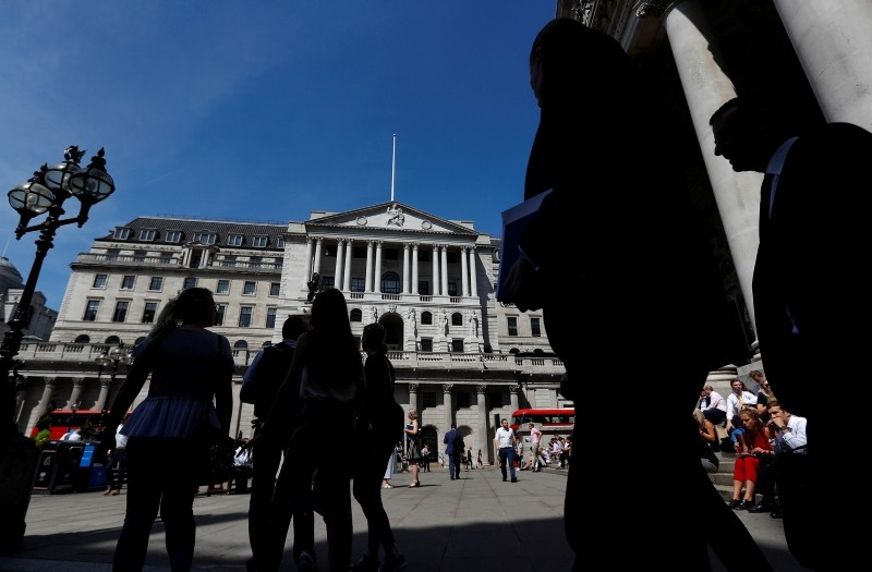 People walk past the Bank of England, in London, Britain August 1, 2018. (Reuters Photo)