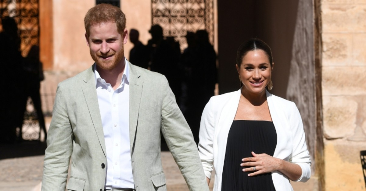 Britain's Meghan, Duchess of Sussex and Prince Harry the Duke of Sussex visit the Andalusian Gardens in Rabat, Morocco February 25, 2019. (Reuters Photo)