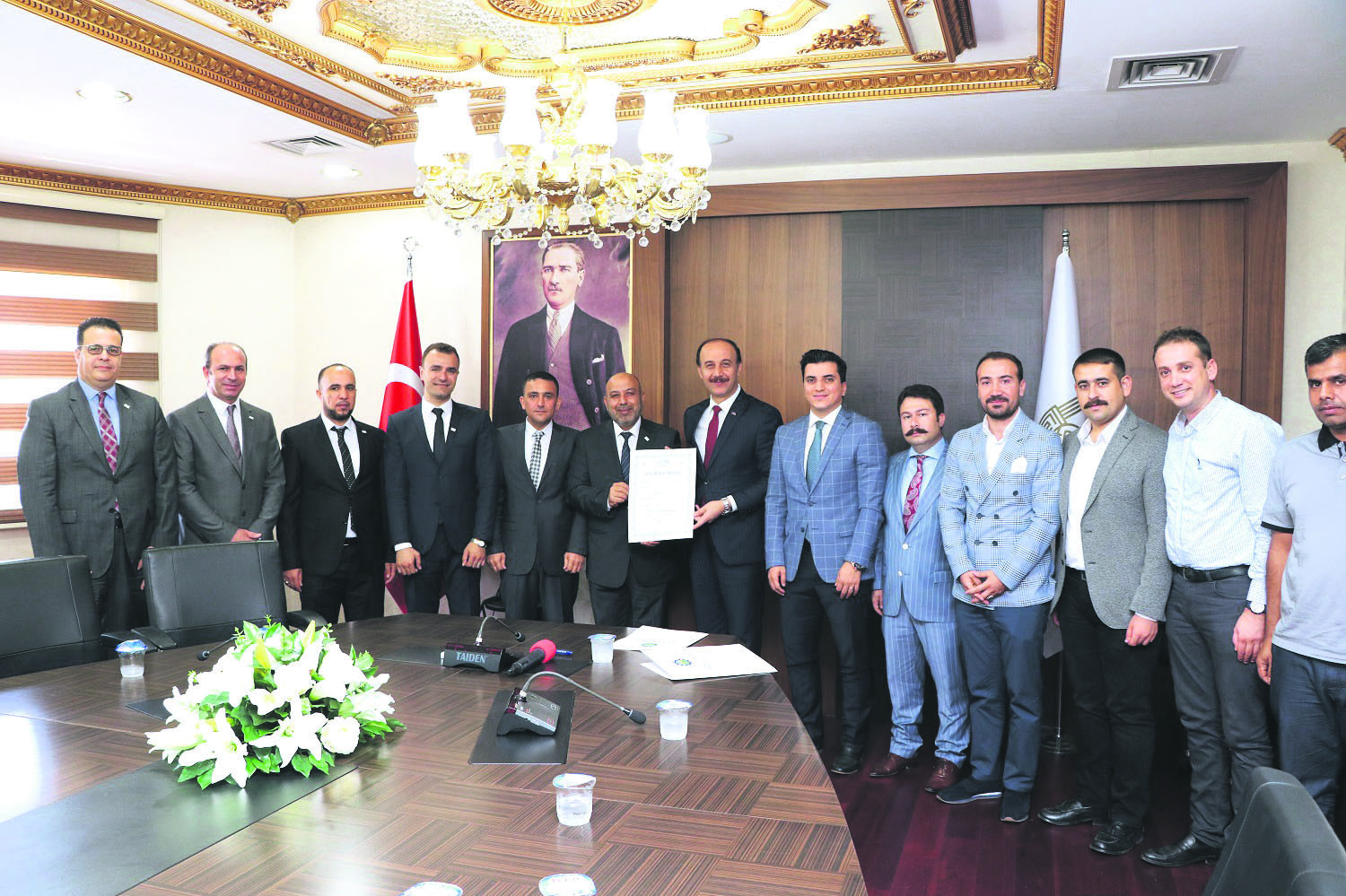 Syrian Businesspeople Association (Su0130AD) and the u015eanlu0131urfa Organized Industrial Zone Directorate signed a land allocation protocol aimed at establishing 10 factories that will operate in various sectors in the u015eanlu0131urfa.