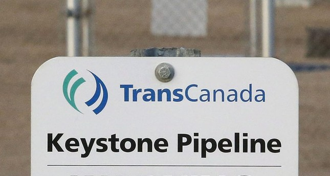 his Nov. 6, 2015, file photo shows a sign for TransCanada's Keystone pipeline facilities in Hardisty, Alberta, Canada. (AP Photo)