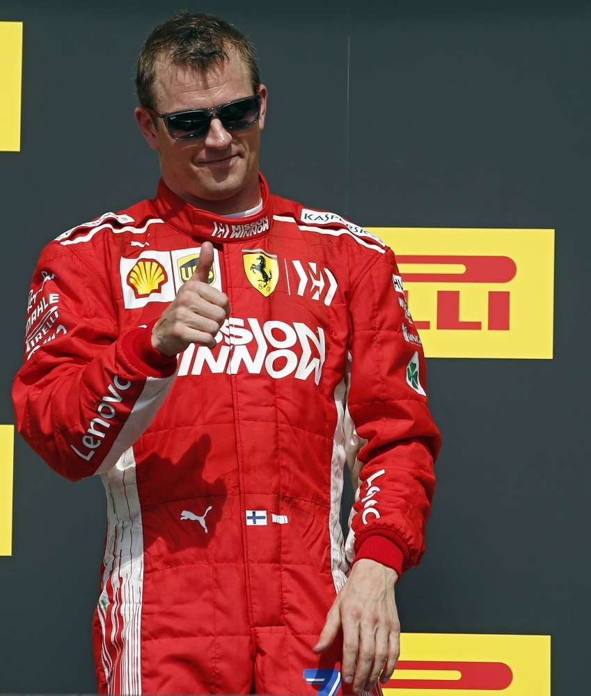 Raikkonen is now Formula One's oldest race winner since Britain's Nigel Mansell triumphed at the age of 41 in Australia in 1994.