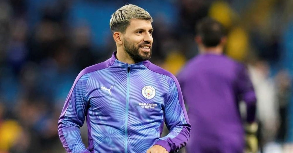 Sergio Aguero during a warm-up before a match, Dec. 21, 2019 (Reuters Photo)